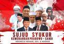 """""""Sujud Syukur Kemenangan Prabowo-Sandi"""" Direncanakan Sore Ini di Medan"""