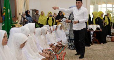 Tepung Tawari Calhaj MQS, Gubsu Berpesan Jaga Kesehatan dan Sampaikan Rencana Membangun Asrama Haji