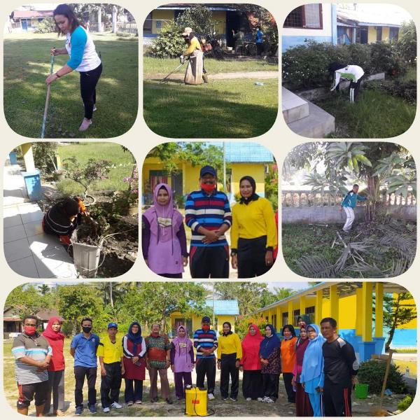Kebersihan Dan Keindahan Lingkungan Sekolah Dibudayakn Di Batubara Sentral Berita