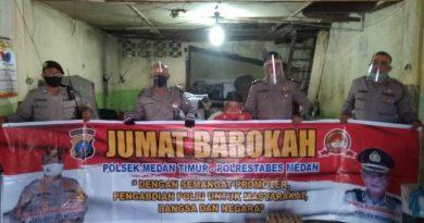 Berbagi Kepada Masyarakat Kurang Mampu Kembali Dilaksanak Polsek Medan Timur