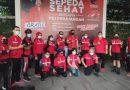 Rangkaian HUT PDI Perjuangan ke-18, Yasonna Laoly Ramaikan Aksi Nasional Sepeda Sehat PDI Perjuangan di Medan