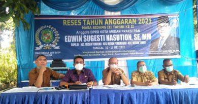 Reses Edwin Sugesti Serap Persoalan Banjir, Sampah dan Drainase