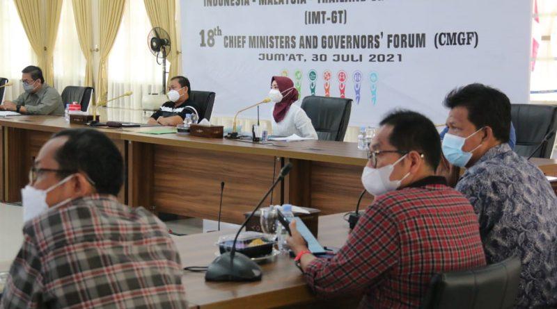 Jajaran Pimpinan OPD Pemko Medan Mengikuti Rapat Teknis Upaya Peningkatan Tempat Tidur Isolasi/ICU Khusus Covid-19