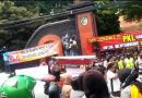 Tuntut Pemkab Buka PKL SLG, Sejumlah LSM dan ABS Kediri Unjukrasa